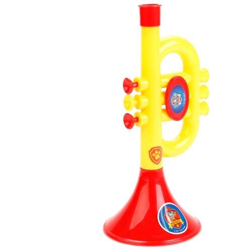 Купить Играем вместе труба Щенячий Патруль B782628-R4 желтый/красный, Детские музыкальные инструменты