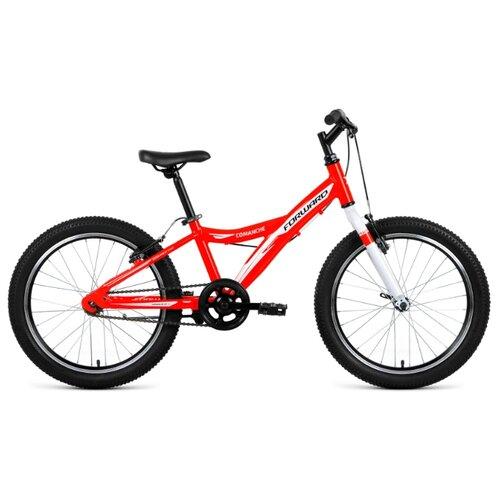 Подростковый горный (MTB) велосипед FORWARD Comanche 20 1.0 (2019) красный 10.5 (требует финальной сборки) подростковый горный mtb велосипед forward dakota 24 1 0 2020 черный 13 требует финальной сборки