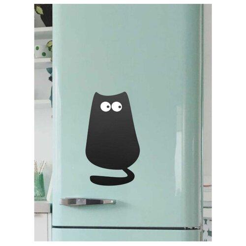 Доска на холодильник меловая Doski4you Кот 1м (39х22 см) черный