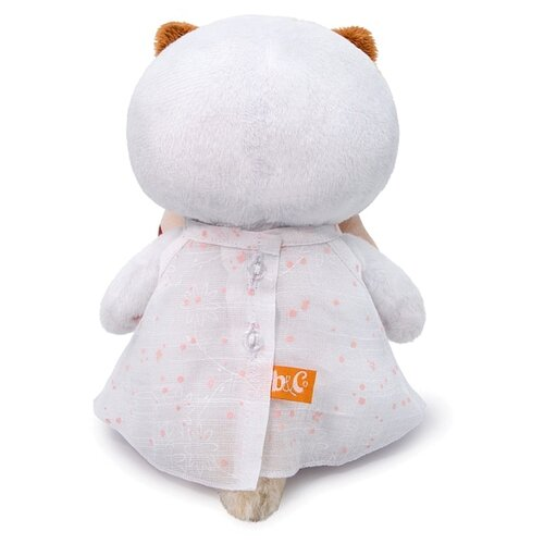 Купить Мягкая игрушка Basik&Co Кошка Ли-Ли baby в платье с бантом 20 см, Мягкие игрушки
