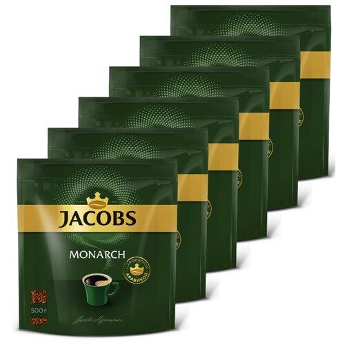 цена Кофе растворимый Jacobs Monarch, пакет, 6 уп. по 500 г онлайн в 2017 году