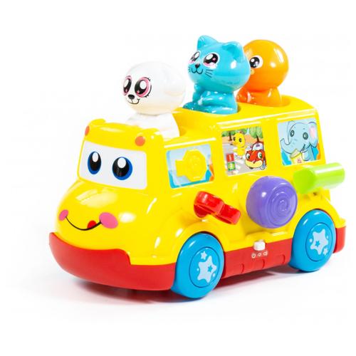 Развивающая игрушка Полесье Школьный автобус желтый/красный