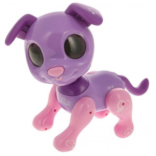 Фото - Робот 1 TOY Robo Pets Робо-пёс Т14337 фиолетовый/розовый игрушка интерактивная 1toy robo pets робо щенок розовый