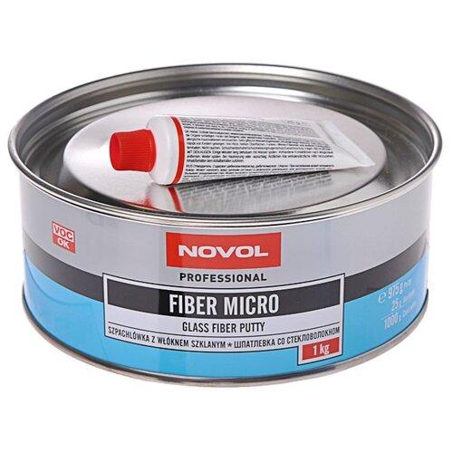 Комплект (шпатлевка, отвердитель) NOVOL FIBER MICRO 1 кг