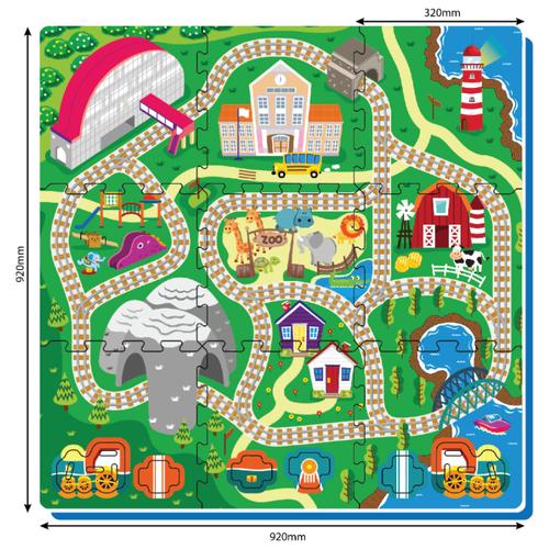 Купить Коврик-пазл ЯиГрушка Железная дорога (3030/59842), Игровые коврики