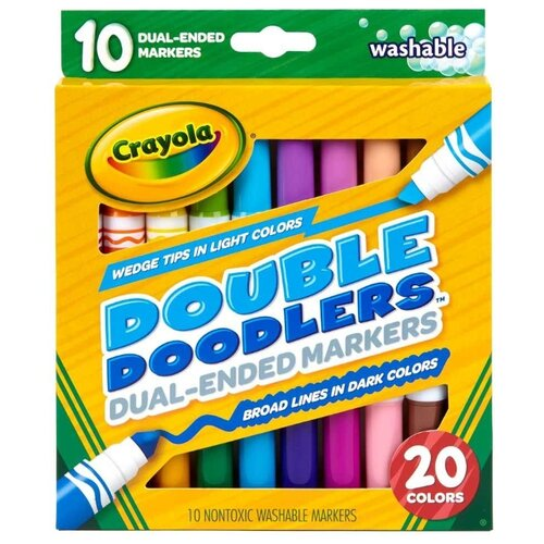 Купить Набор смываемых двусторонних фломастеров Crayola, 10 штук, Фломастеры и маркеры