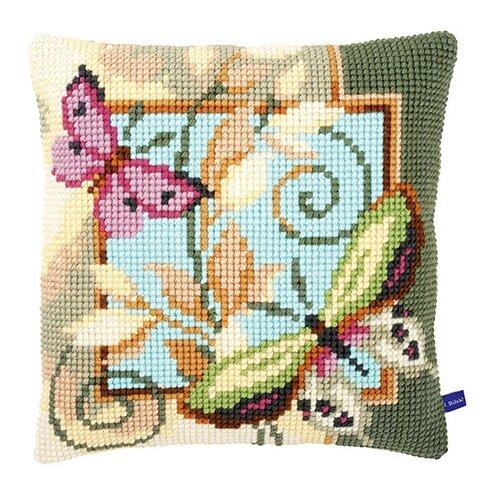 Купить Vervaco Набор для вышивания Бабочки 40 х 40 см (0154959-PN), Наборы для вышивания
