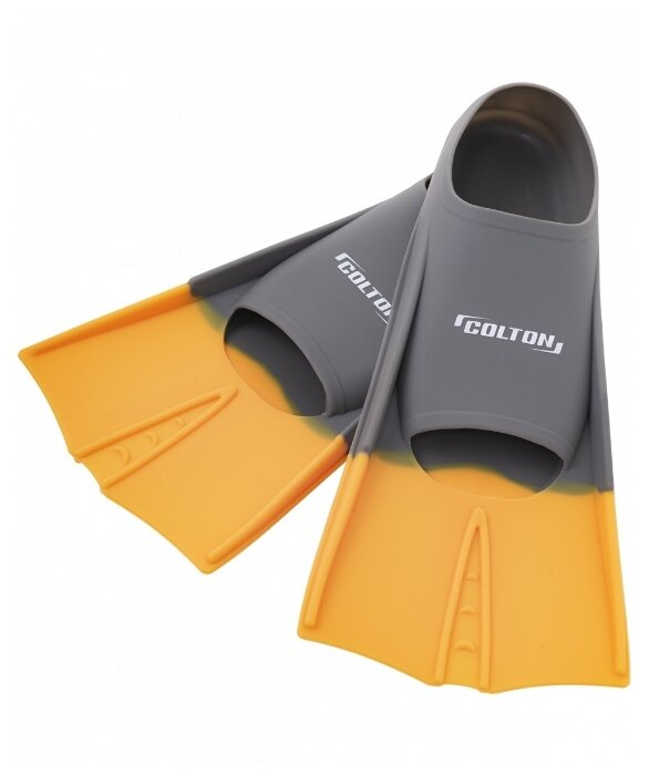 Ласты с закрытой пяткой Colton CF-01 серый/оранжевый 30-32