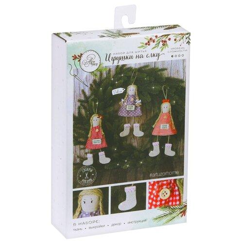 Купить Арт Узор Набор для шитья Игрушки на ёлку Любимый праздник (2346322), Изготовление кукол и игрушек