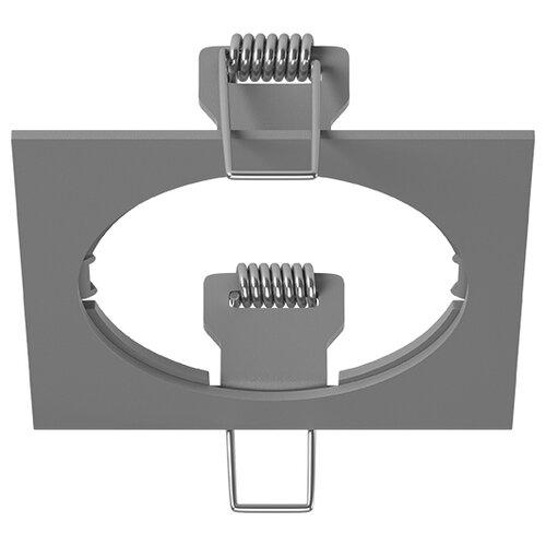 Декоративная рамка Lightstar Intero 16 Quadro 217516 / 217517 / 217519 на 1 светильник серый встраиваемый светильник lightstar intero 16 i636090609