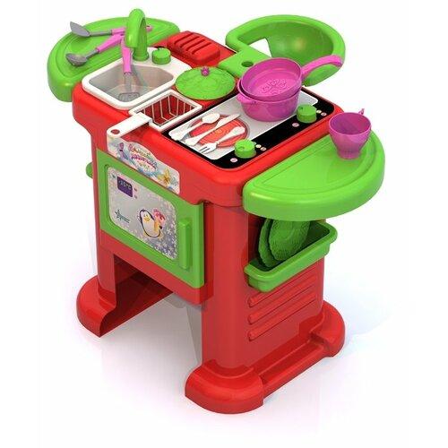 Кухня Нордпласт Волшебная Хозяюшка №2 602 зеленый/красный ролевые игры нордпласт набор волшебная хозяюшка 12 предметов