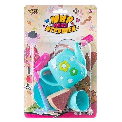 Фото - Набор продуктов с посудой Yako Мир моих Игрушек Д88711 голубой набор машин yako мир моих игрушек m7558 1 белый