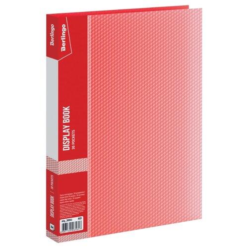 Купить Berlingo Папка с 30 вкладышами Diamond A4, пластик 700 мкм красный, Файлы и папки