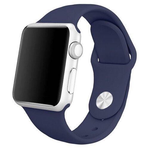 Krutoff / Ремешок Krutoff Silicone для Apple Watch (Эпл Вотч) 38/40mm, midnight blue