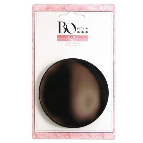 Зеркало косметическое настенное BO Paris x 10 на присосках черный