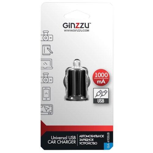 Автомобильная зарядка Ginzzu GA-4105UB, черный автомобильная зарядка ginzzu ga 4615ub черный
