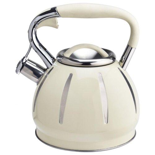 Фото - Pomi d'Oro Чайник со свистком Napoli P-650190 3 л, светло-бежевый чайник со свистком pomi d oro pss 650019