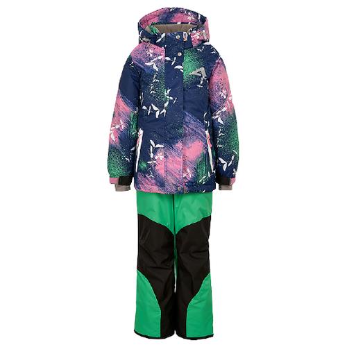 Купить Комплект с полукомбинезоном Oldos размер 92, зеленый, Комплекты верхней одежды
