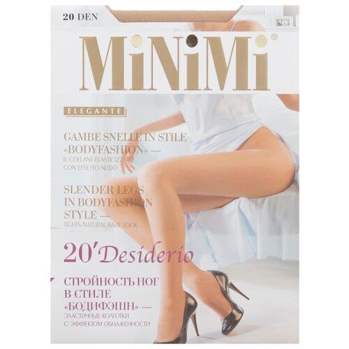Колготки MiNiMi Desiderio (Nudo) 20 den, размер 4-L, caramello (бежевый) колготки minimi desiderio nudo 20 den размер 4 l daino бежевый