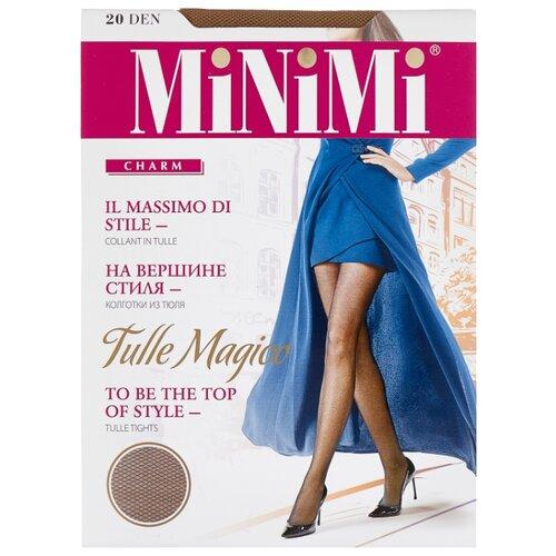 Колготки MiNiMi Tulle Magico 20 den, размер 5-XL, daino (бежевый) колготки minimi la sfera 20 den размер 5 xl daino бежевый