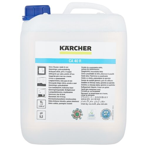 Жидкость KARCHER CA 40 R для очистки стекол 5000 мл жидкость для очистки krups xs900031 100 мл х 2