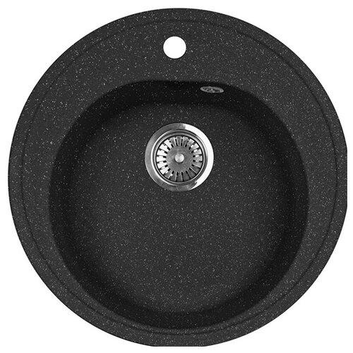 Фото - Врезная кухонная мойка 51 см А-Гранит M-08 черный врезная кухонная мойка 47 5 см а гранит m 05 красный марс