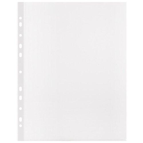 Купить Attache Файл-вкладыш А4+ рифленый с перфорацией, 100 мкм, 50 штук бесцветный, Файлы и папки