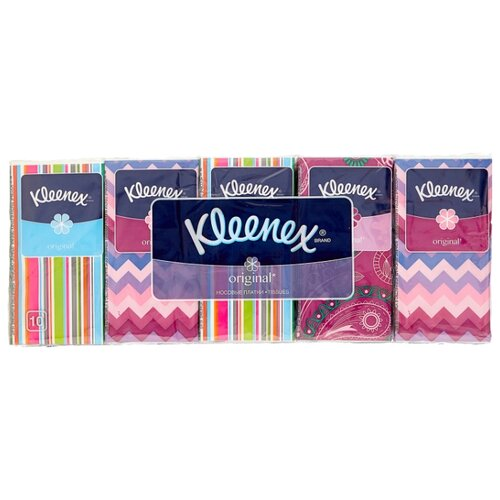 Купить Платочки Kleenex Original 21 х 20 см, 100 шт.