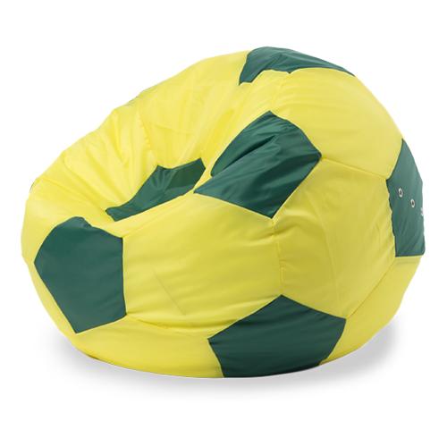 Пуффбери кресло-мешок Мяч XXL желтый/зеленый оксфорд