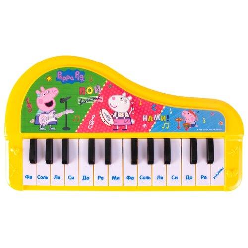РОСМЭН пианино Свинка Пеппа 36359 желтый/зеленый/голубой/красный росмэн росмэн ранец эргономичный миньоны красный