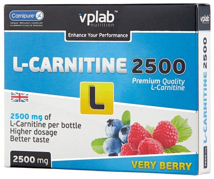 Жиросжигатель VP LABORATORY L-Carnitine 2500 Лесная ягода, 7 ампул x 25мл