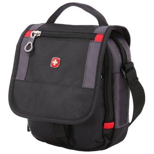 сумка планшет wenger swissgear sa18262166 22x9x29см 0 36кг полиэстер черный Сумка планшет SWISSGEAR, текстиль, черный/серый