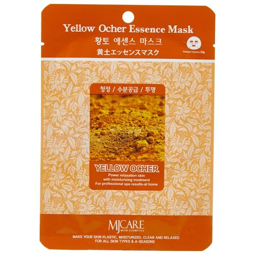 MIJIN Cosmetics тканевая маска Yellow Ocher Essence с охрой, 23 г маска тканевая для лица mijin cosmetics platinum essence mask 23 г
