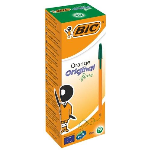 BIC Набор шариковых ручек Orange Original fine, 0.8 мм (1199110113/8099241/8099221/8099231), зеленый цвет чернил