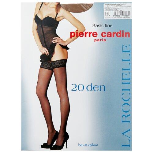 Чулки Pierre Cardin La Rochelle, Basic Line 20 den, размер IV-L, visone (бежевый) чулки pierre cardin la rochelle basic line 20 den размер iv l nero