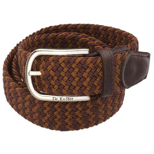 Ремень Dr.Koffer R040-01-110-195, коричневый/темно-коричневый, 110 см