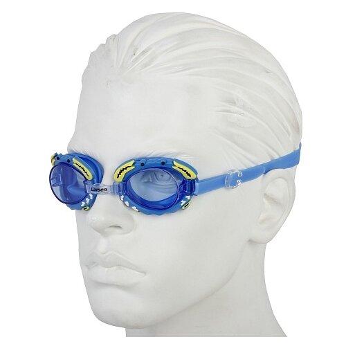 Очки для плавания Larsen DR30 синие Крабик отважный крабик