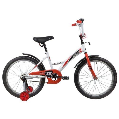 Детский велосипед Novatrack Strike 20 (2020) белый/красный (требует финальной сборки)
