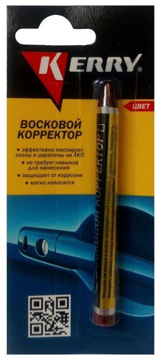 KERRY Восковый корректор-карандаш для кузова от царапин, красный, 0.006 кг