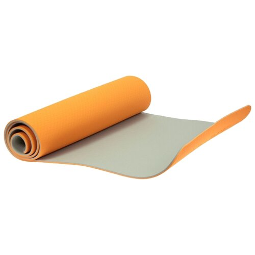 Фото - Коврик BRADEX SF 0402/SF 0403, 183х61х0.6 см оранжевый/серый блок для йоги bradex sf 0407 sf 0408 sf 0409 серый
