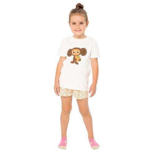 Купить Пижама Frutto Rosso размер 122, молочный/оранжевый, Домашняя одежда