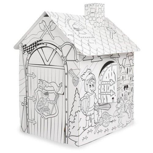 Фото - Mochtoys Раскраска картонный домик Рыцарь (11123) mochtoys раскраска картонный домик 10721