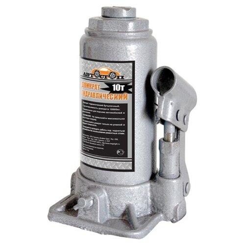 Домкрат бутылочный гидравлический Автостоп AJ-010 (10 т) серый домкрат бутылочный гидравлический автостоп aj 016 16 т серый