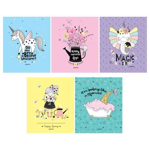 ArtSpace Упаковка тетрадей Рисунки. Be happy Т96к_26715, 5 шт., клетка, 96 л., Тетради  - купить со скидкой