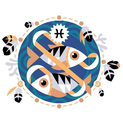 Купить Картина по номерам Живопись по Номерам Знак зодиака. Рыбы , 40x50 см, Живопись по номерам, Картины по номерам и контурам