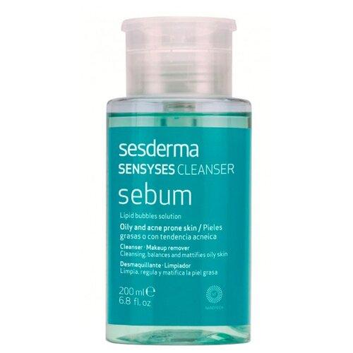 SesDerma липосомальный лосьон для снятия макияжа Sensyses Cleanser Sebum, 200 мл липосомальный лосьон для снятия макияжа sesderma sensyses cleanser lightening для пигментированной и тусклой кожи 200 мл