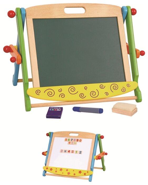 Доска для рисования детская Viga магнитная + доска для мела (2 стороны) (59075)