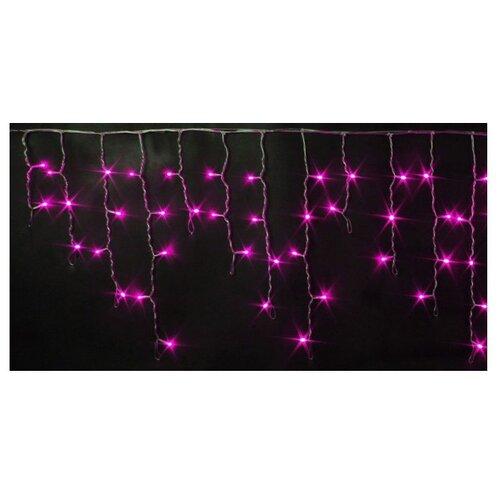 Гирлянда Rich LED Бахрома RL-i3*0.5-T, 300 х 50 см, 112 ламп, розовые диоды/прозрачный провод