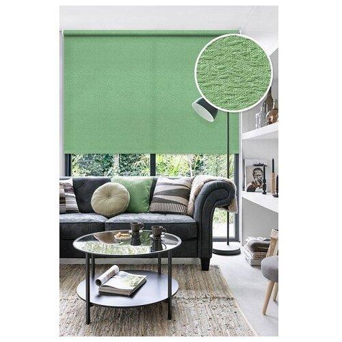 Рулонная штора Эскар Морзе (зеленый), 140х160 см рулонная штора эскар морзе экрю 140х160 см