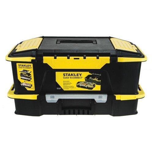 Ящик с органайзером STANLEY STST1-71962 50.7x31x24.7 см черный ящик с органайзером stanley jumbo 1 92 906 27 6x48 6x23 2 см черный желтый